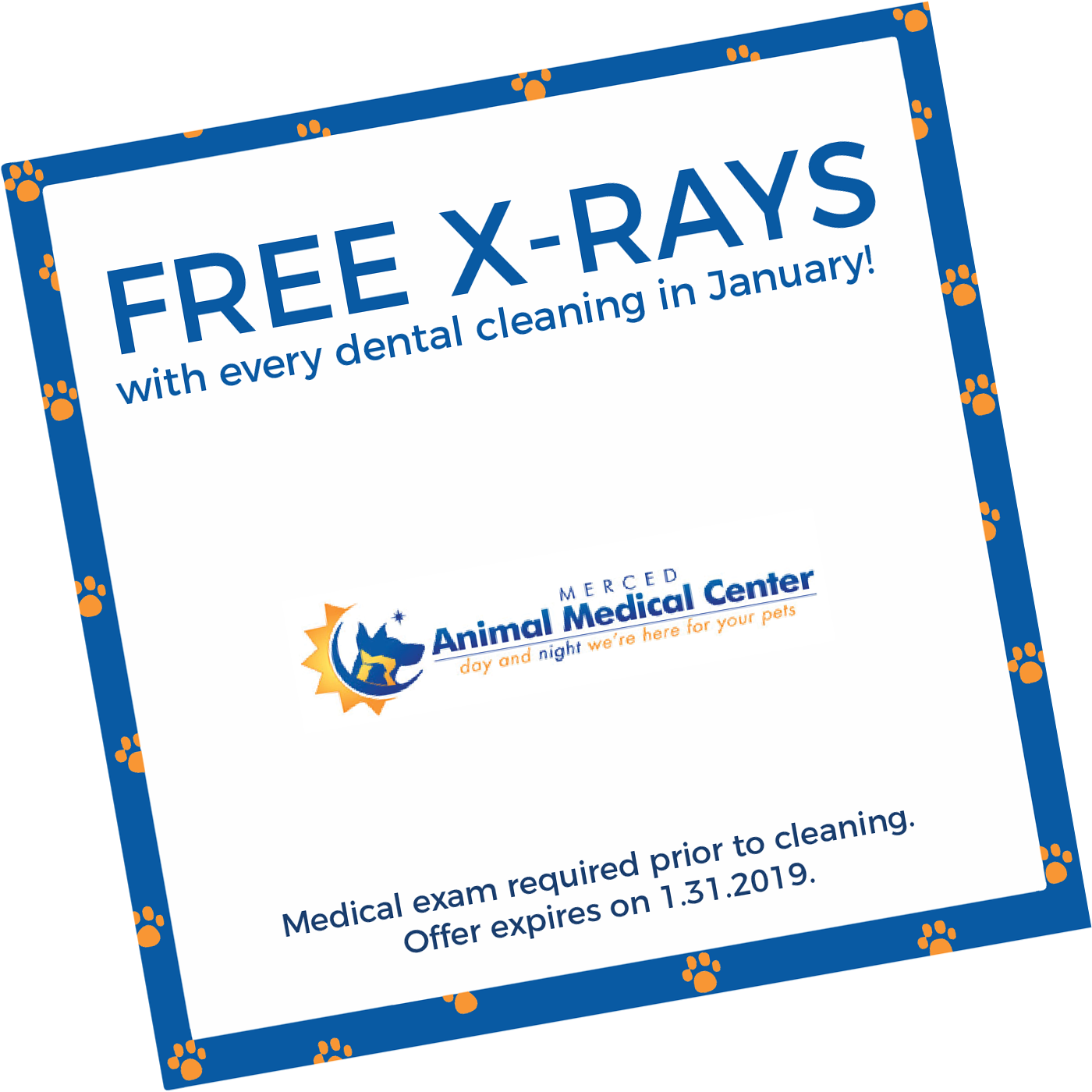 FREE X-Rays with every dental cleaning in January. Medical exam required prior to cleaning. Offer expires on 1/31/10
