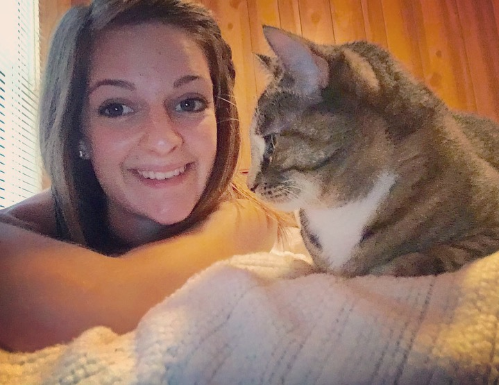 Carley and a cat