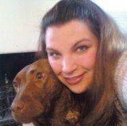 Amanda with a dog