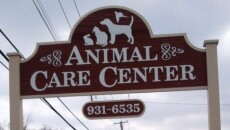 The sign outside of our veterinary center