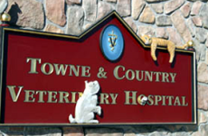 Towne & Country Veterinary Hospital sign