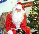 Dog with Santa